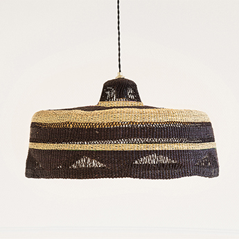 Suspension shadow naturel et noir o55cm h23cm golden editions normal