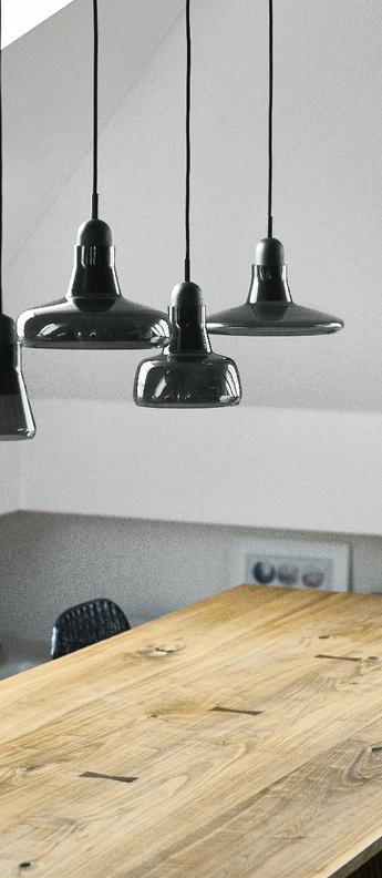 Suspension shadows noir verre brillant dimmable o25cm h15 9cm brokis normal