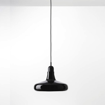 Suspension shadows noir verre brillant dimmable o25cm h15 9cm brokis normal