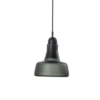 Suspension shadows xl transparent verre gris fumee o26cm h23 5cm brokis normal