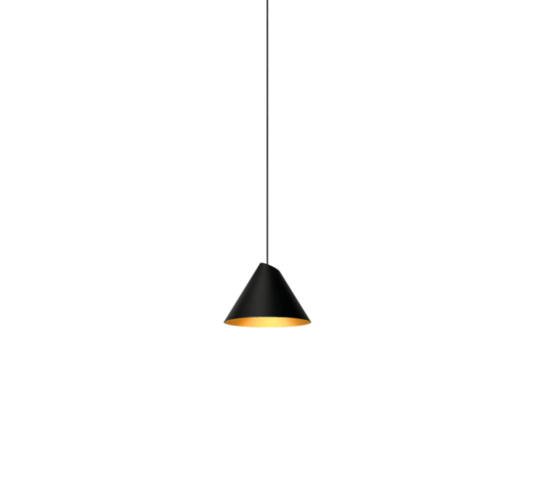 Pendant light, Shiek 1.0, LED, Gold, black, H11,7cm, Ø17cm ...