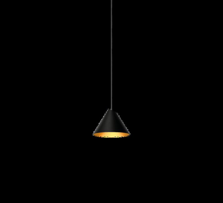 Pendant light shiek 1 0 led gold black h11 7cm 17cm for Luminaire suspension verre transparent