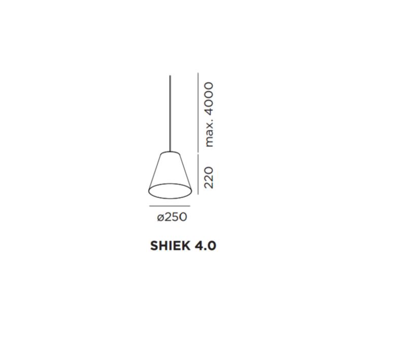Shiek 4 0 gold studio wever ducre suspension pendant light  wever et ducre shiek4 0blackcopper  design signed 32915 product