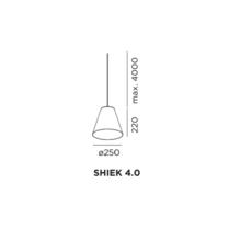 Shiek 4 0 gold studio wever ducre suspension pendant light  wever et ducre shiek4 0blackcopper  design signed 32915 thumb