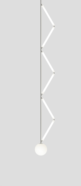 Suspension side triangle nickel l21 3cm h175cm atelier areti normal