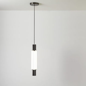 Suspension signal chandelier noir et blanc led l14 5cm h66 8cm cvl normal