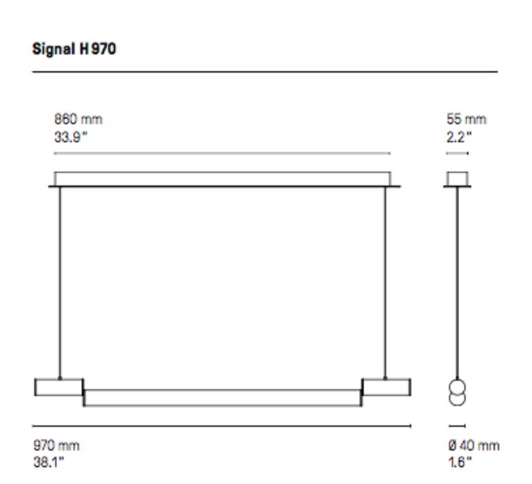 Signal h970  suspension pendant light  cvl signal h970  design signed 53551 product