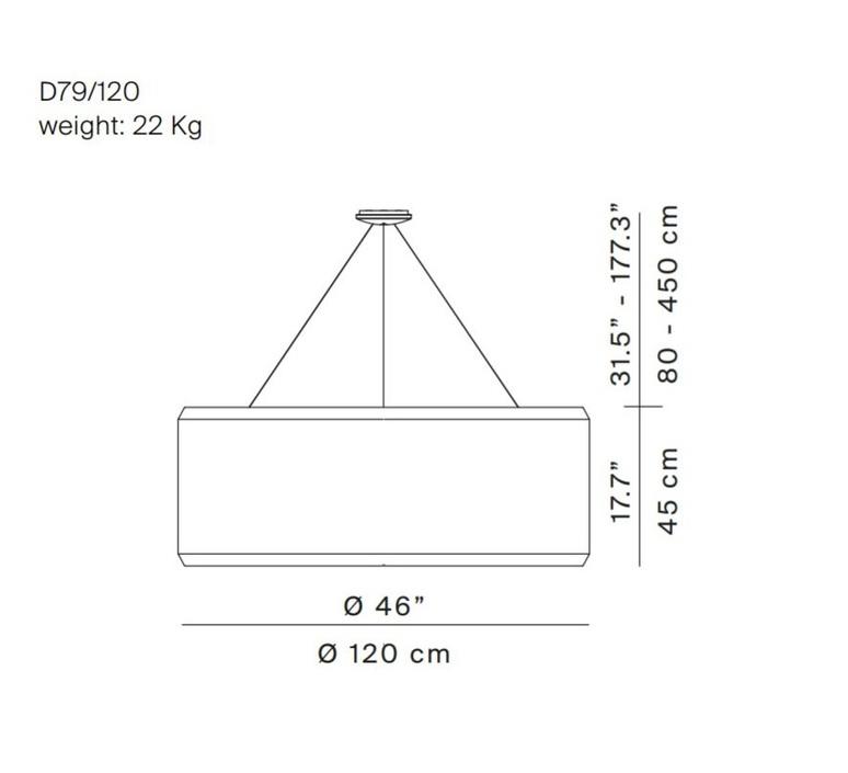 Silenzio d79 120c monica armani suspension pendant light  luceplan 1d7912c000a3  9d7903608200  design signed 56322 product
