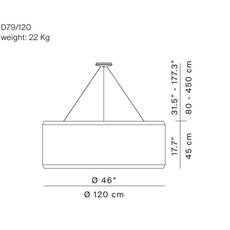 Silenzio d79 120c monica armani suspension pendant light  luceplan 1d7912c000a3  9d7903608200  design signed 56322 thumb