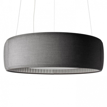 Suspension silenzio d79 150c gris clair led o150cm h45cm lucepan normal