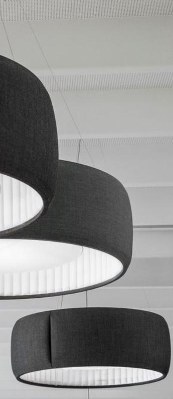 Suspension silenzio d79 150c gris fonce led o150cm h45cm lucepan normal