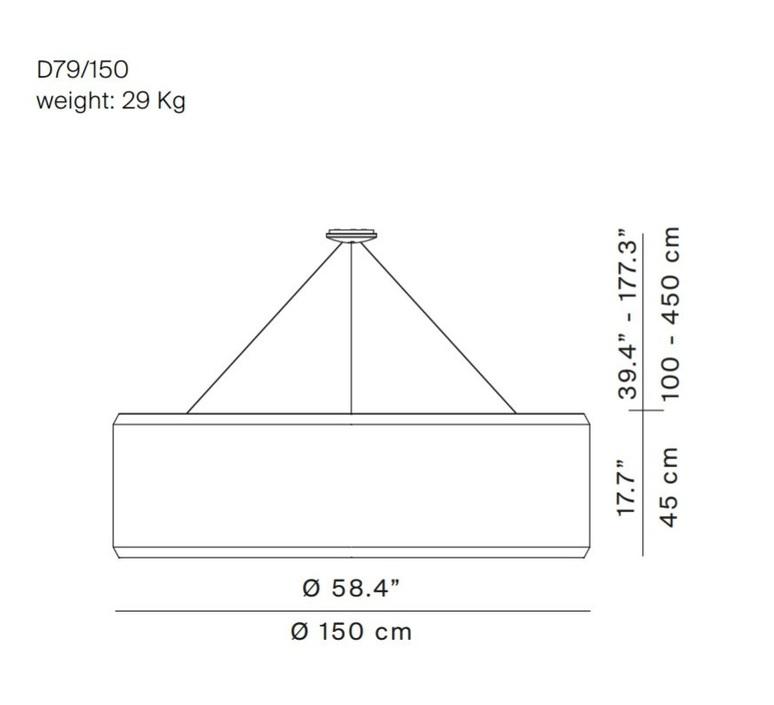 Silenzio d79 150c monica armani suspension pendant light  luceplan 1d7915c000a3  9d7903608200  design signed 56354 product