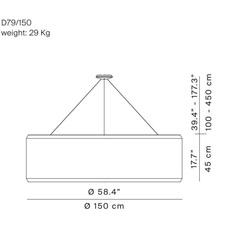 Silenzio d79 150c monica armani suspension pendant light  luceplan 1d7915c000a3  9d7903608200  design signed 56354 thumb