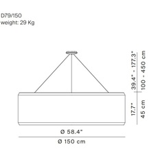 Silenzio d79 150c monica armani suspension pendant light  luceplan 1d7915c000b1 9d7903608200  design signed 56368 thumb