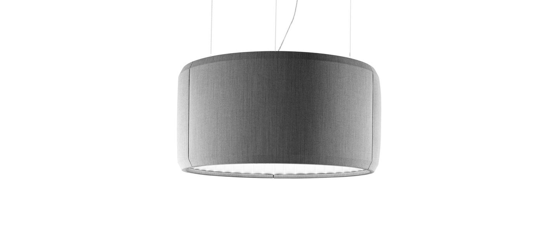 Suspension silenzio d79 90c gris clair led o90cm h45cm lucepan normal