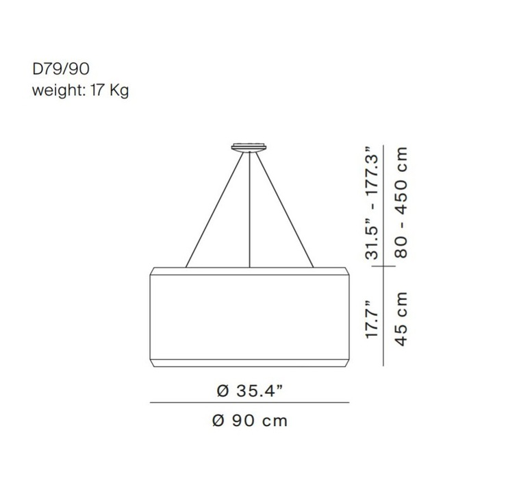 Silenzio d79 90c monica armani suspension pendant light  luceplan 1d7909c000a2 9d7903608200  design signed 56278 product