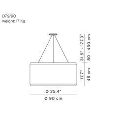 Silenzio d79 90c monica armani suspension pendant light  luceplan 1d7909c000a2 9d7903608200  design signed 56278 thumb