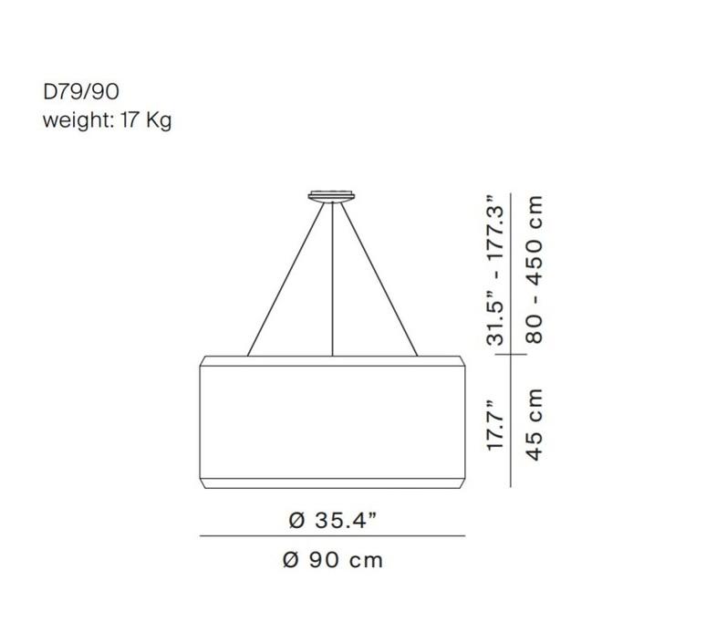 Silenzio d79 90c monica armani suspension pendant light  luceplan 1d7909c000b2  9d7903608200  design signed 56296 product