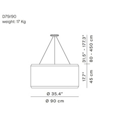 Silenzio d79 90c monica armani suspension pendant light  luceplan 1d7909c000b2  9d7903608200  design signed 56296 thumb