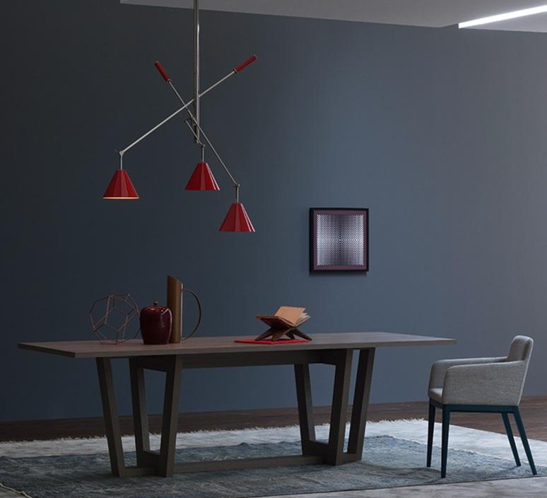 Sinatra studio delightfull delightfull suspension sinatra red luminaire lighting design signed 25658 product