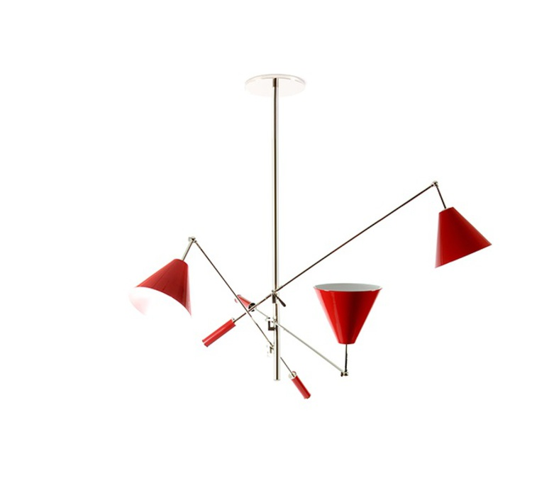 Suspension sinatra rouge 110cm delightfull for Luminaire suspension rouge