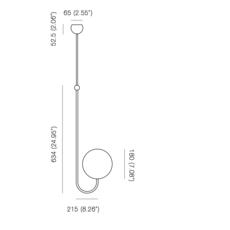 Single angle michael anastassiades suspension pendant light  anastassiades ma sasbr  design signed 39727 thumb