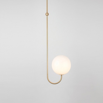 Suspension single angle blanc et laiton l21 5cm h63 4cm anastassiades studio normal