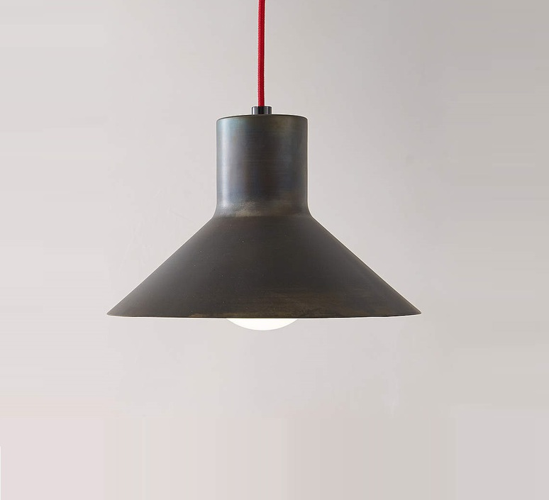 Sister enrico azzimonti zava sister suspension h31cm blue iron cable scarlet red rayon luminaire lighting design signed 17587 product