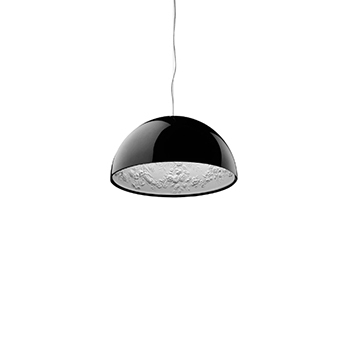 Suspension skygarden 1 noir brillant o60cm h30cm flos normal