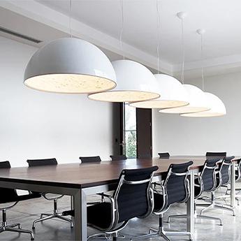 Suspension skygarden 2 blanc brillant o90cm h45cm flos normal