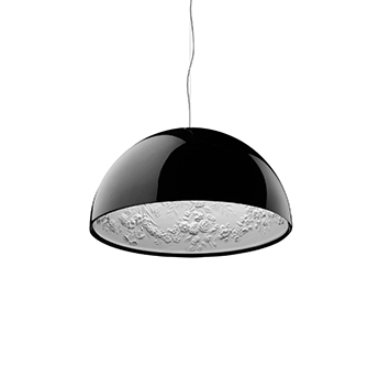 Suspension skygarden 2 noir brillant o90cm h45cm flos normal