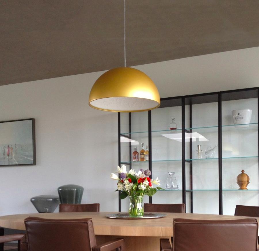 suspension skygarden blanc or 60cm flos luminaires nedgis. Black Bedroom Furniture Sets. Home Design Ideas