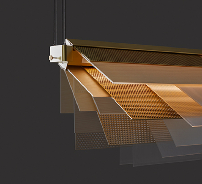 Skyline  estudi h ac suspension pendant light  lzf skyl s iv gd led dim0 10v 22  design signed nedgis 70948 product