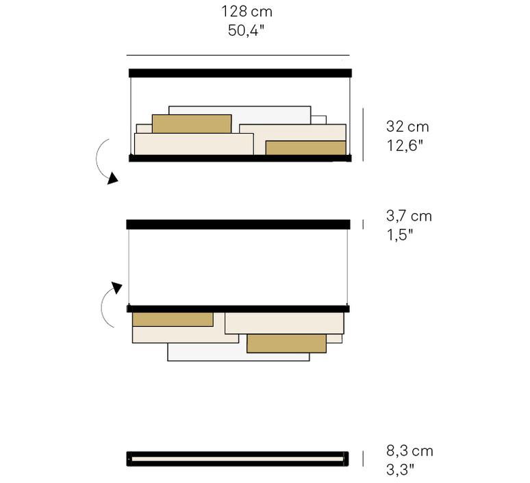 Skyline  estudi h ac suspension pendant light  lzf skyl s iv gd led dim0 10v 22  design signed nedgis 70952 product