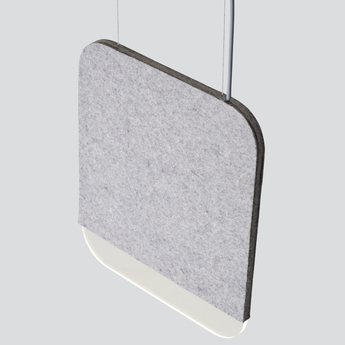 Suspension slab 30 dali gris led 2700k 160lm l30cm h35cm andlight normal