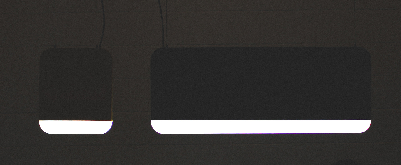 Suspension slab 30 dali noir led 2700k 160lm l30cm h35cm andlight normal