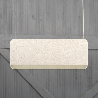 Suspension slab 90 dali blanc led 2700k 480lm l90cm h35cm andlight normal