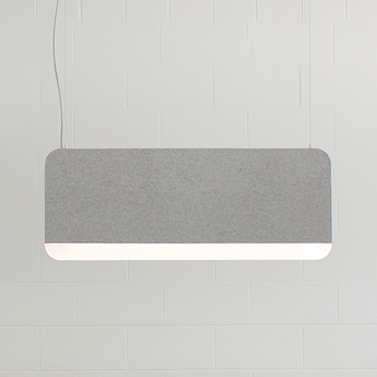 Suspension slab 90 dali gris led 2700k 480lm l90cm h35cm andlight normal