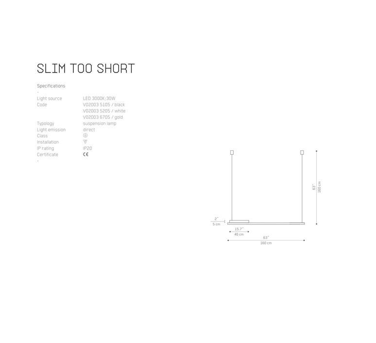 Slim too short matija bevk suspension pendant light  vertigo bird v02003 6705  design signed 56197 product