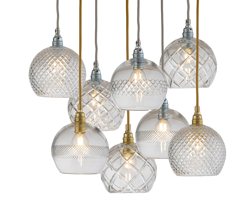 Small check crystal rowan 15 5 susanne nielsen suspension pendant light  ebb and flow la101521  design signed nedgis 72630 product