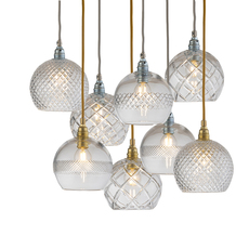 Small check crystal rowan 15 5 susanne nielsen suspension pendant light  ebb and flow la101521  design signed nedgis 72630 thumb