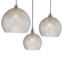 Small check crystal rowan 15 5 susanne nielsen suspension pendant light  ebb and flow la101521  design signed nedgis 72633 thumb