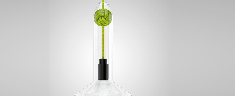 Suspension small knot vert h22 4cm vitamin normal