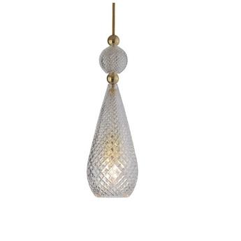 Suspension smykke crystal transparent or o12 5cm h40cm ebb and flow normal