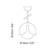 Snowdrop stone designs suspension pendant light  innermost ps06911028  design signed 49568 thumb