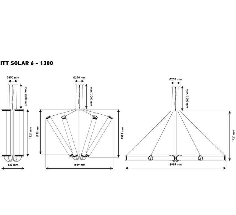 Solar 6 1300 silver mesh dominique perrault suspension pendant light  dcw solar 6 1300 silvmesh cop sil  design signed nedgis 73919 product