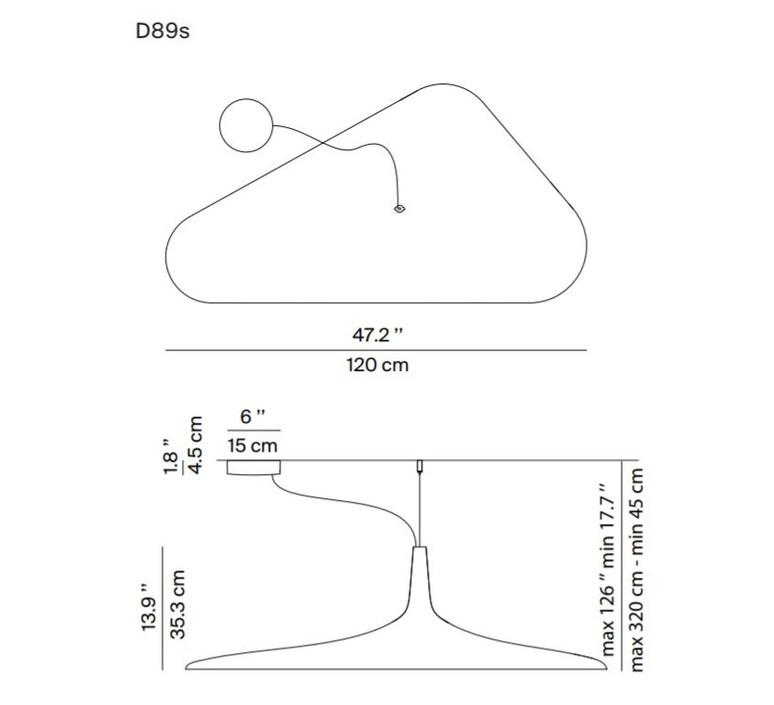 Soleil noir d89s odile decq suspension pendant light  luceplan 1d890s000035  design signed 56117 product
