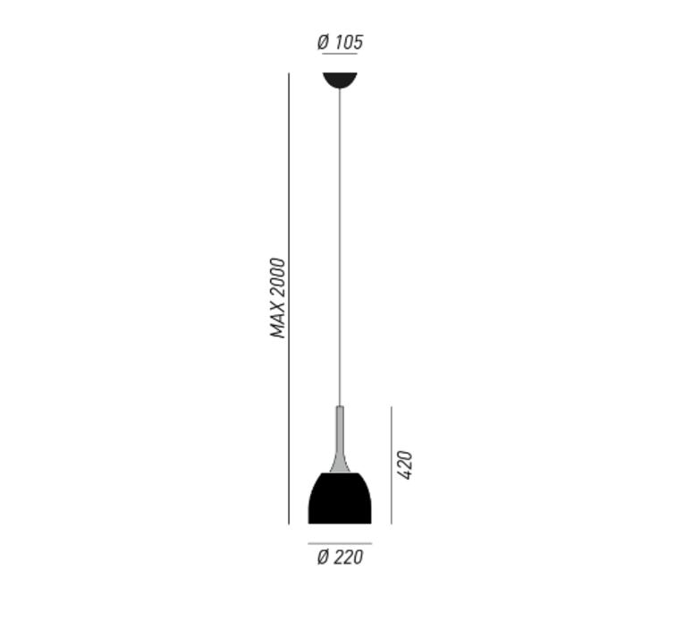 Sombrero enzo berti suspension pendant light  torremato s1f1  design signed 52403 product