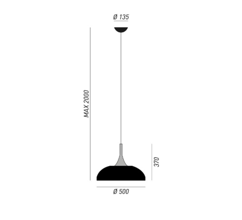 Sombrero enzo berti suspension pendant light  torremato s2f1  design signed 52400 product