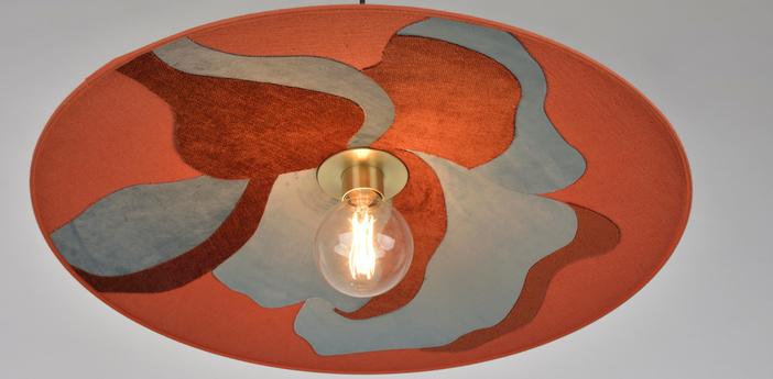 Suspension sonia laudet orange o60cm h8cm market set normal